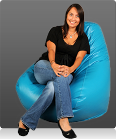 Big Bean Bag Chairs in Scuba Blue