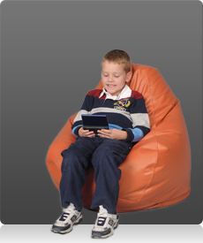 Kids Bean Bag Chair in Orange