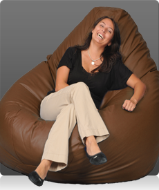 Huge Mega Bean Bag Chair in Chestnut