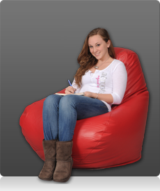 Large Bean Bag Chair in Red