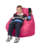 Hot Pink Kids Bean Bag Chairs