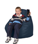 Marine Blue Kids Bean Bag Chairs