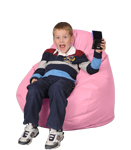 Pink Rose Kids Bean Bag Chairs