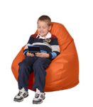 Tangerine Kids Bean Bag Chairs