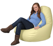 Adult Sized Bean Bag Chairs in Yellow