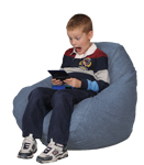 Denim Stonewash Blue Kids Bean Bag Chairs